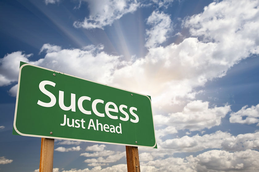 Pan Atlantic | Success road sign